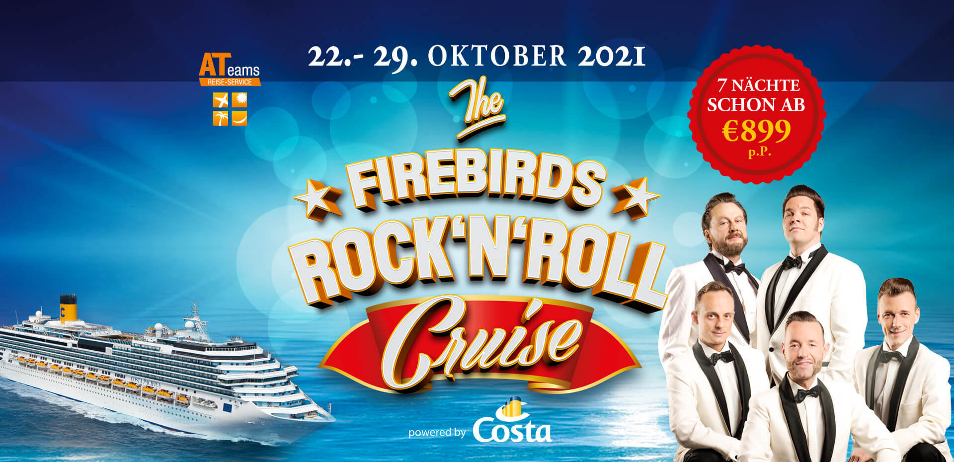 "Im Oktober 2021 erwartet Euch ""The Firebirds Rock'n'Roll Cruise"""